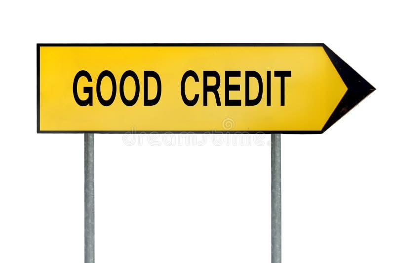 Yellow street concept good credit sign stock photo