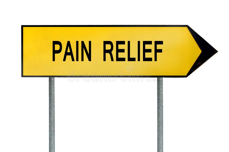 Yellow street concept pain relief sign vector illustration