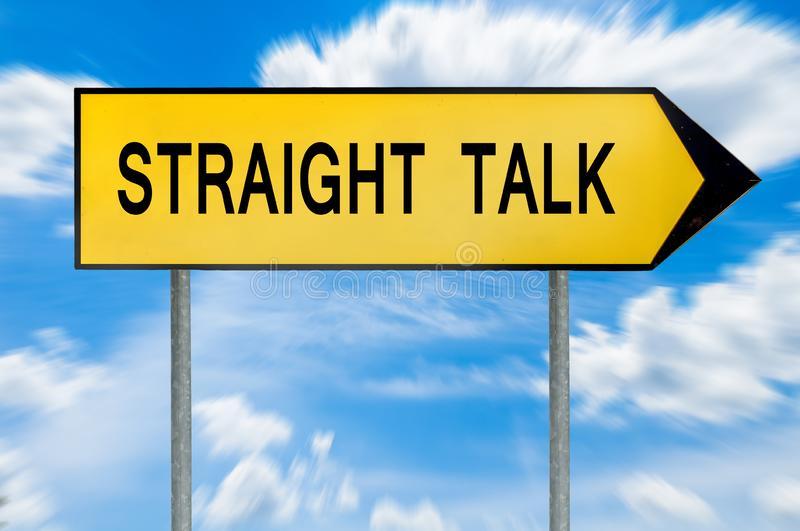 Yellow street concept straight talk sign royalty free stock photos