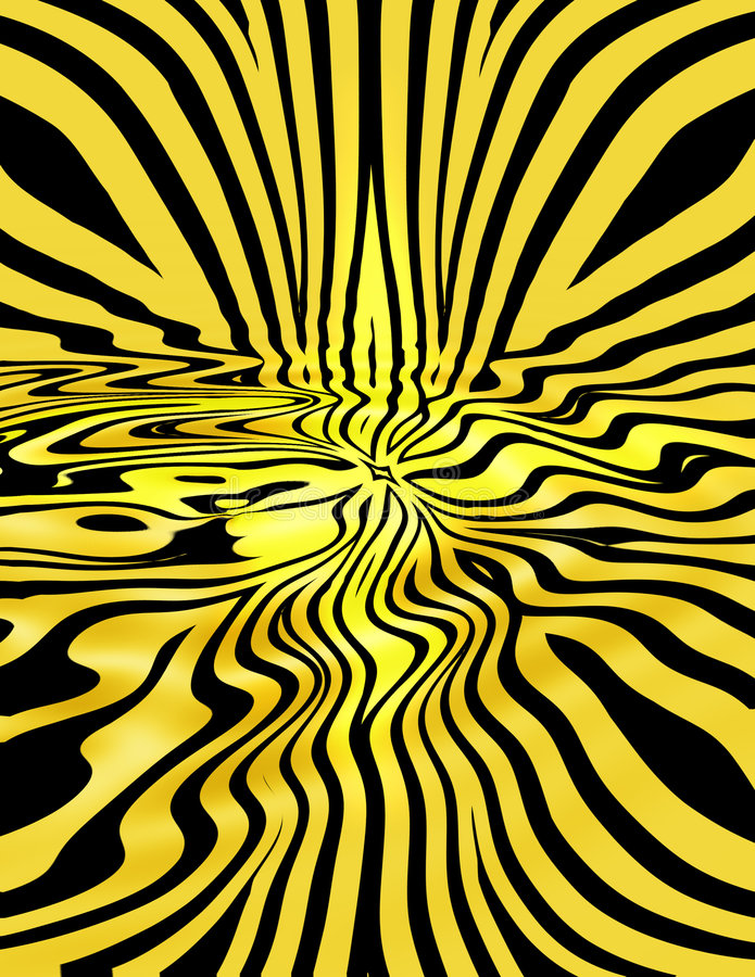 Yellow Liquid Stripes royalty free illustration
