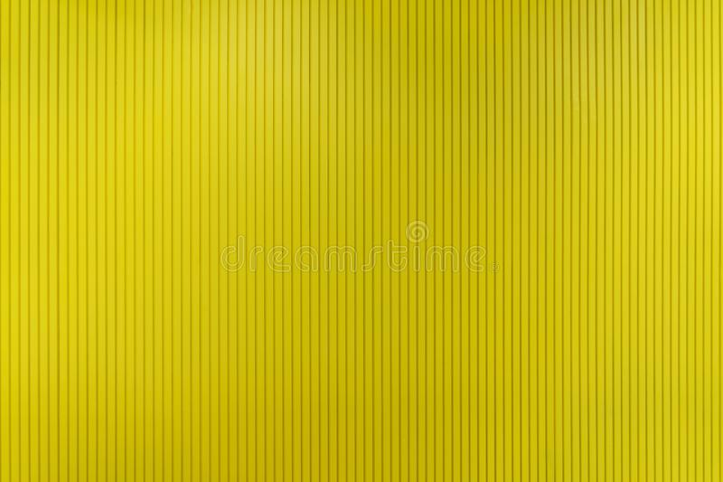 Yellow strips or lines with empty space. Decoration for wallpaper. Architecture interior design pattern material texture. Background royalty free stock photo