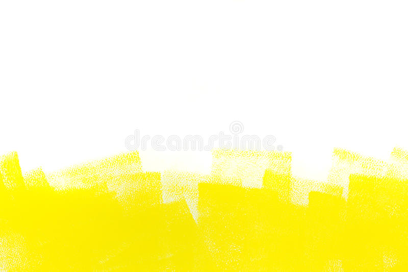 Yellow Stroke Of Paint Roller Stock Image - Image of pattern ...