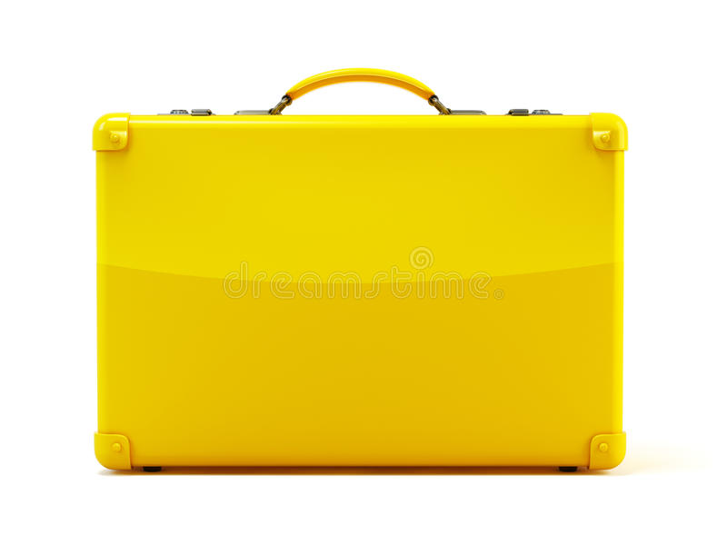 Yellow suitcase stock images