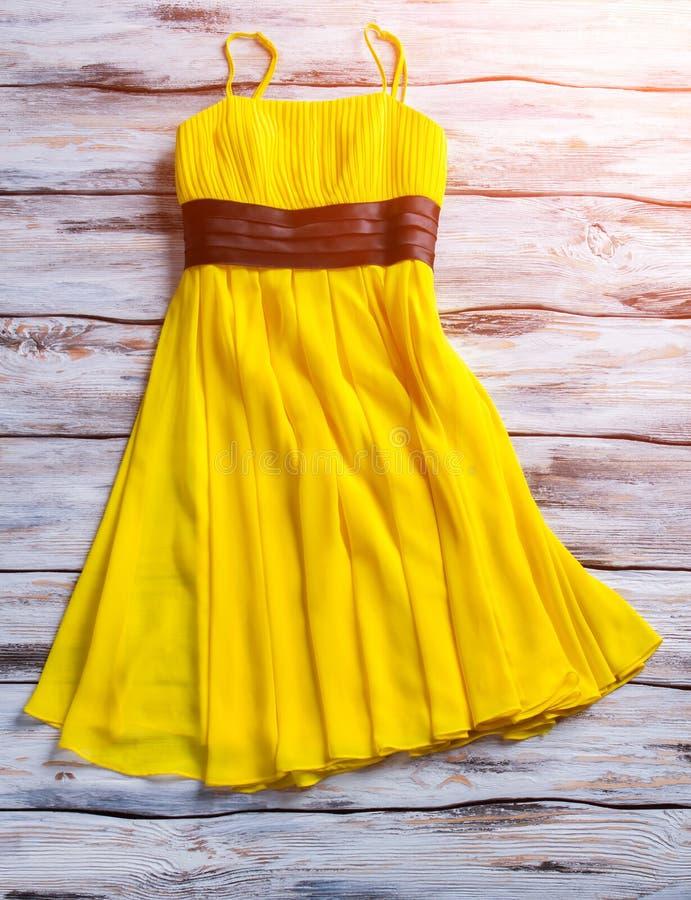 Yellow summer dress. royalty free stock image