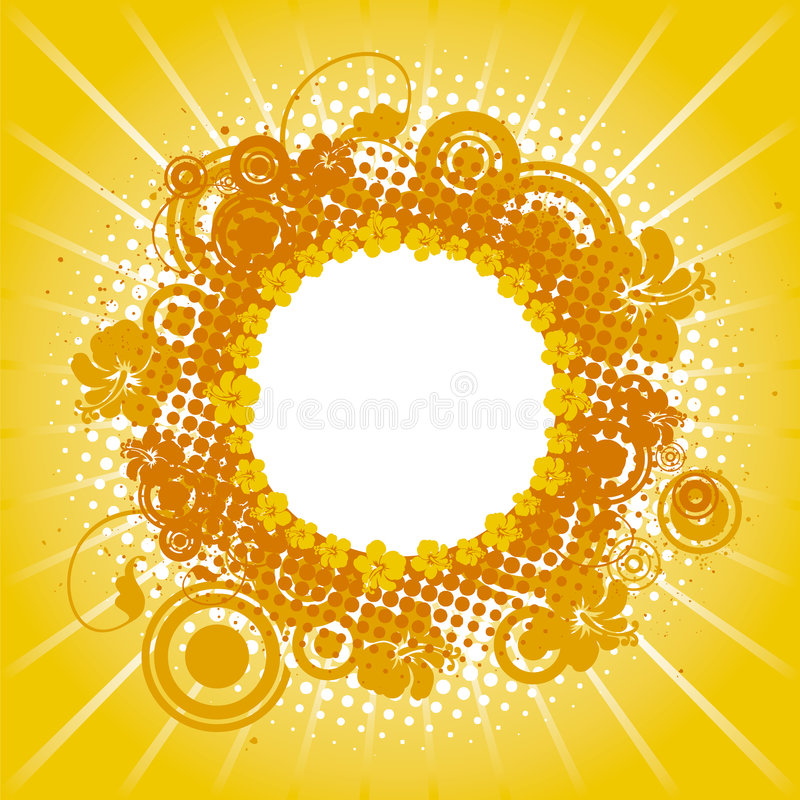 Yellow summer frame royalty free stock images