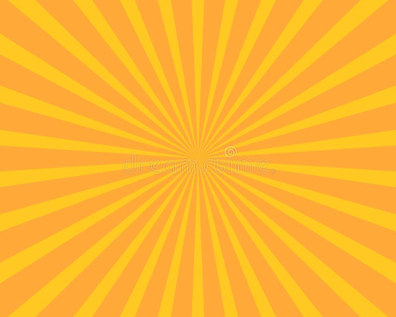 Yellow sun burst illustration vector background. Abstract and Wallpaper concept stock illustration
