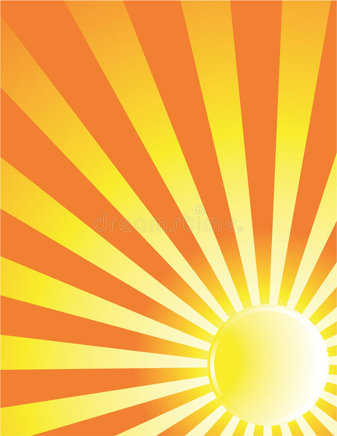 Yellow sun ray background royalty free illustration