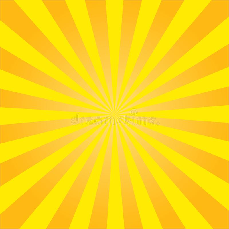 Yellow sun rays. Radial retro background. vector eps10 vector illustration