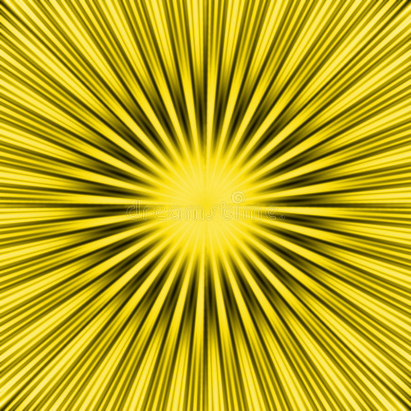 Yellow SunBurst stock illustration