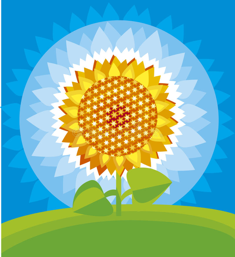 Download Yellow sunflower stock vector. Image of needle, picture - 23204388