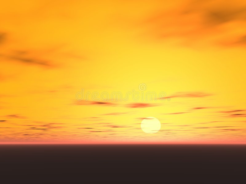 Download Yellow sunset stock image. Image of clouds, nice, light - 3273027