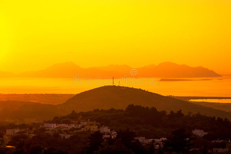 Yellow Sunset royalty free stock images