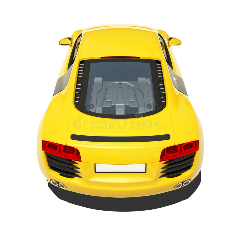 Download Yellow Super Car Isolated On The White Background Stock Illustration - Illustration of paint, automobile: 34042085