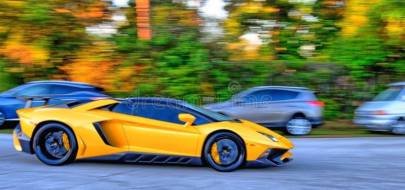 Yellow Super car stock photos