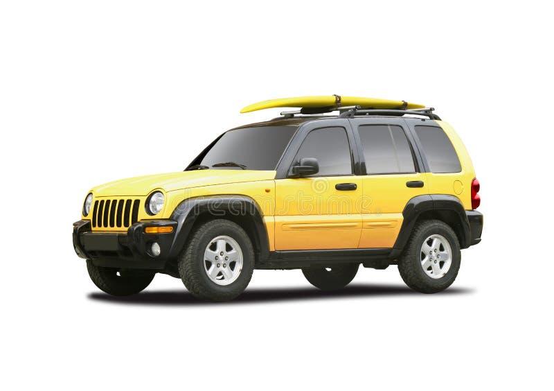 Yellow Suv Stock Photo Image