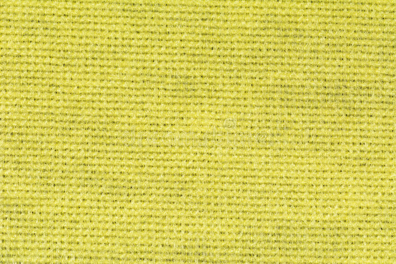 Yellow tablecloth texture background, close up stock photo