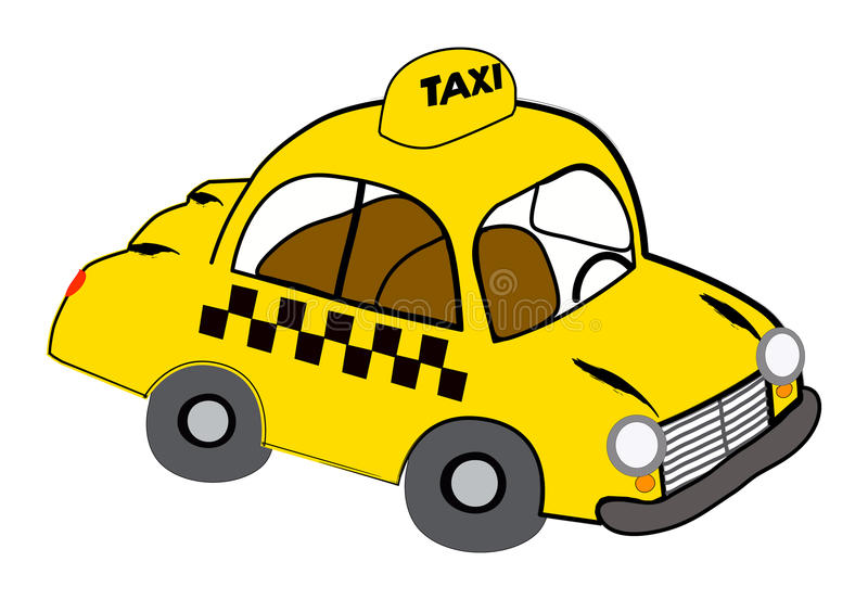 Yellow Taxi Stock Photography