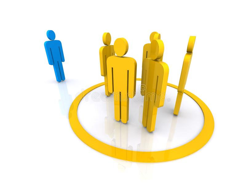 Download Yellow team of people stock illustration. Image of design - 20548933