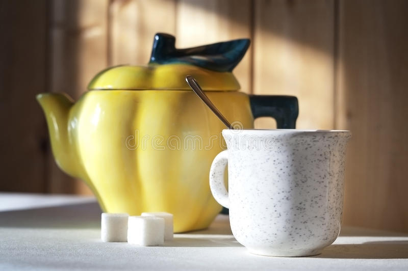 Download Yellow teapot stock photo. Image of background, empty - 28911632