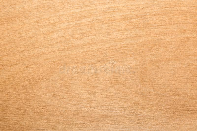 Yellow texture of birch plywood, abstract background royalty free stock photo