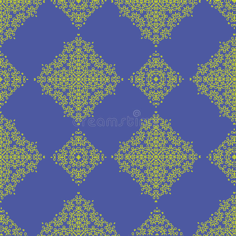 Yellow Texture on Blue. royalty free illustration