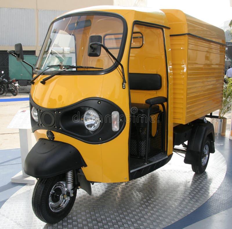 Download Yellow Three Wheeler Pickup At Stock Photo - Image: 4390390