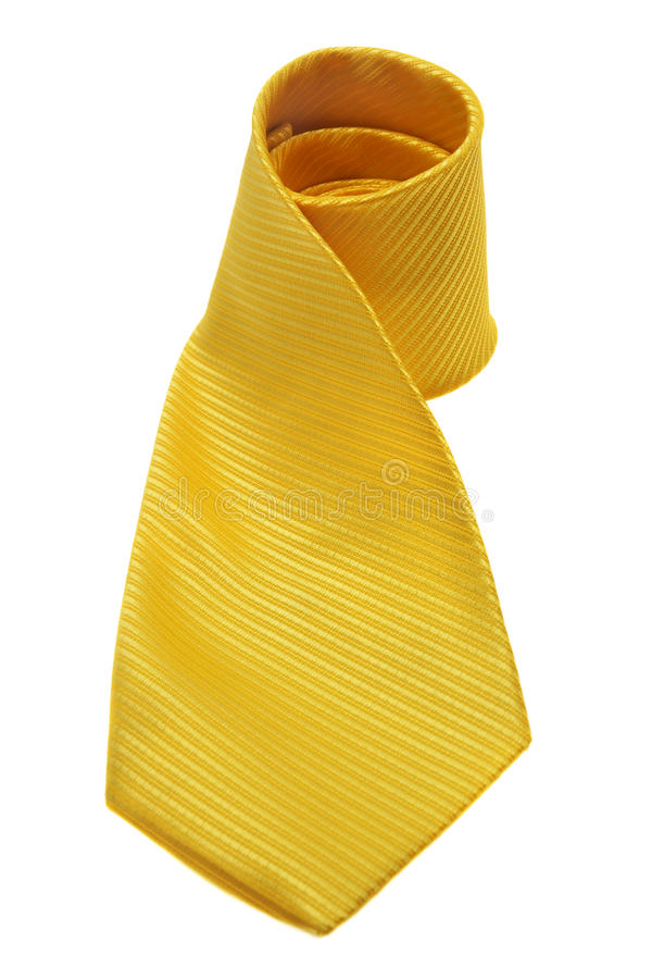 Yellow tie stock photos