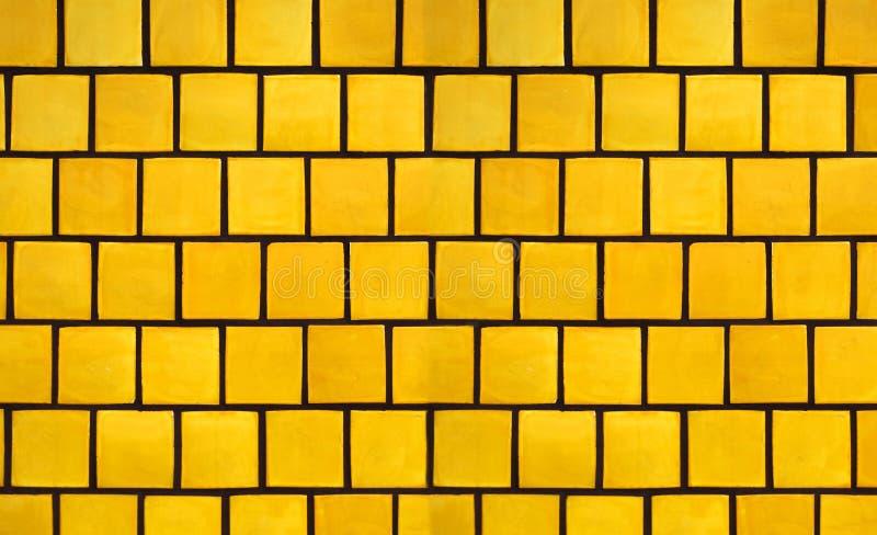 Yellow Tile Background stock photo