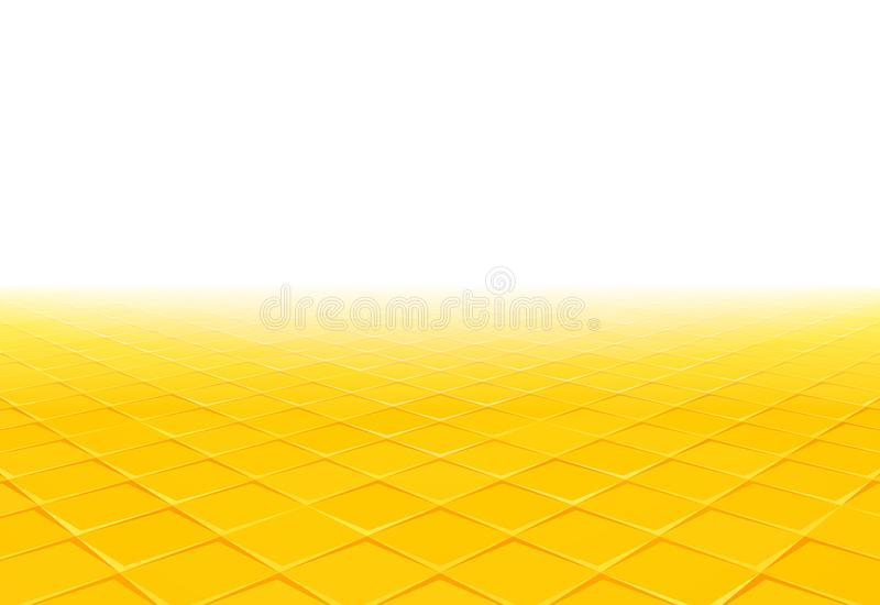 Yellow tile perspective background royalty free illustration