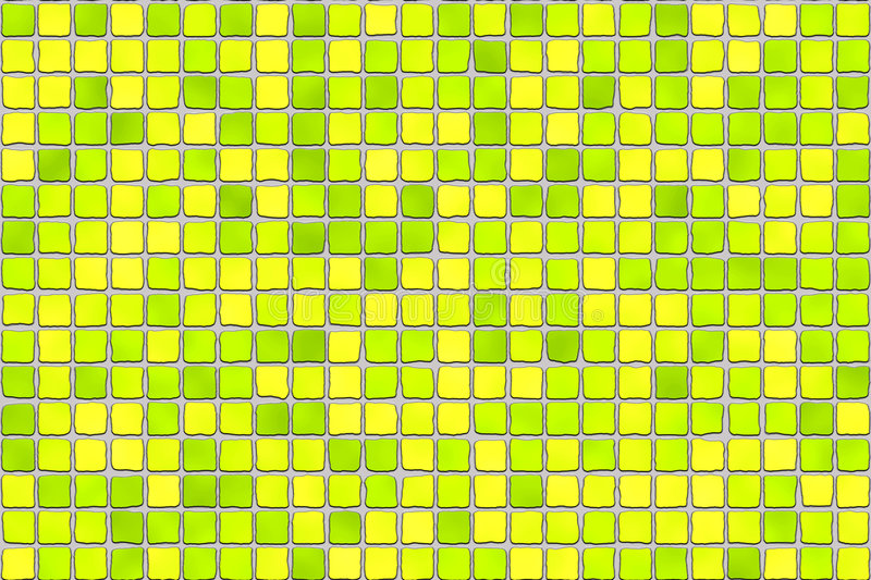 Yellow tiles - mosaic royalty free stock photography