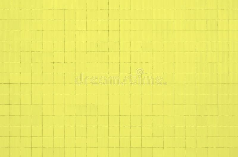 Yellow tiles wall stock image