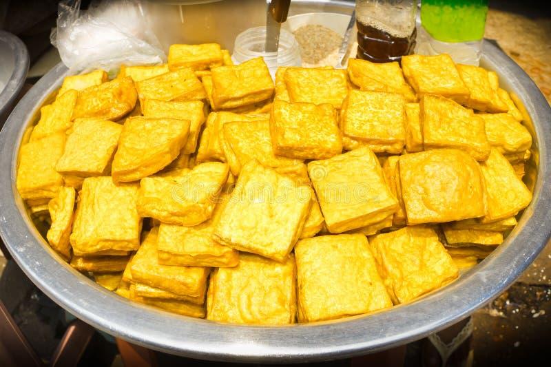 Yellow tofu, snacks burmese Style. Yellow tofu, snacks burmese Style, ready for sale royalty free stock image
