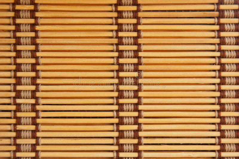 Yellow tone bamboo blinds. Pattern wallpaper royalty free stock photos
