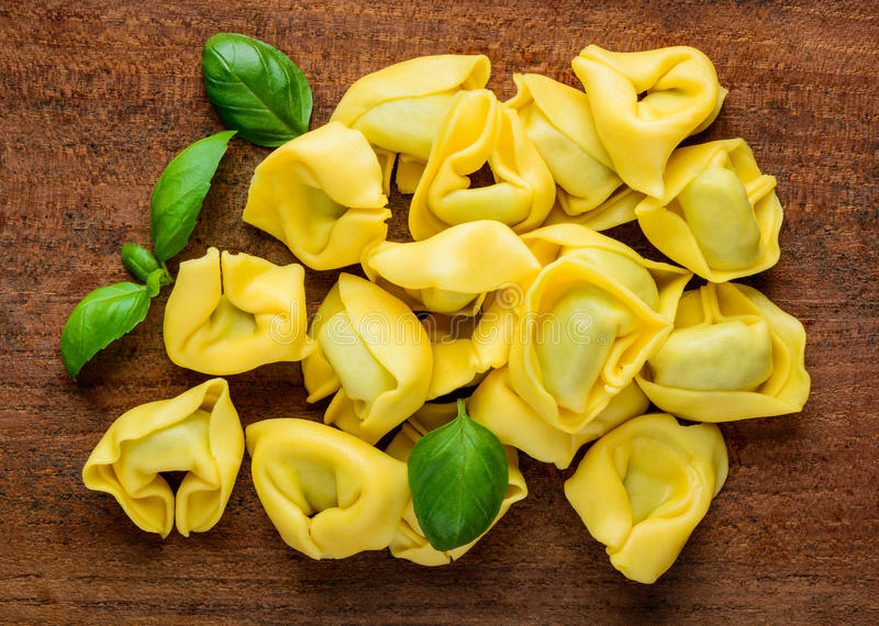 Yellow Tortellini Pasta royalty free stock photos