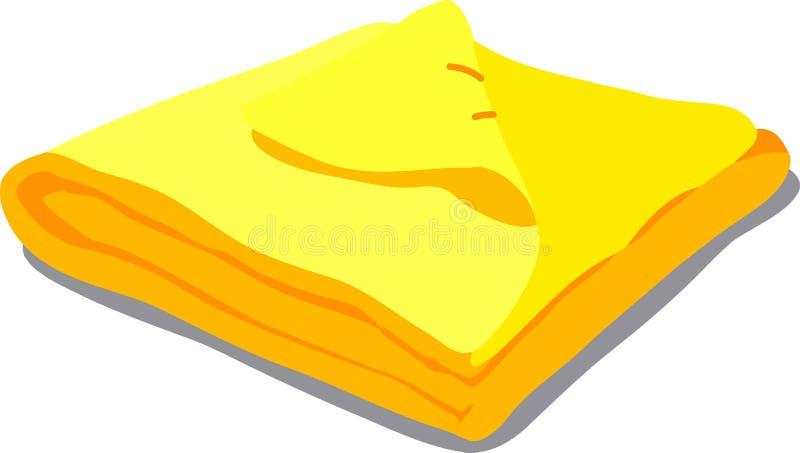 Yellow towel on white royalty free illustration