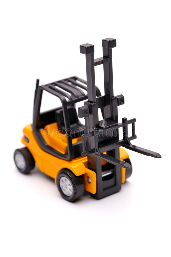 Download Yellow toy forklift stock image. Image of industry, industrial - 8202621