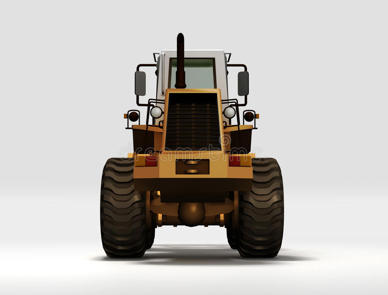Download Yellow Tractor stock illustration. Image of graphic, back - 28395997