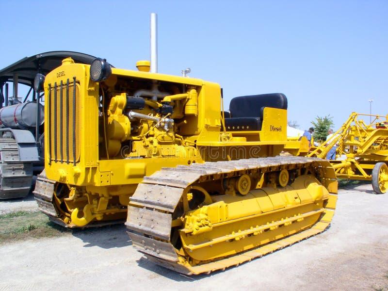Yellow Tractor stock photo