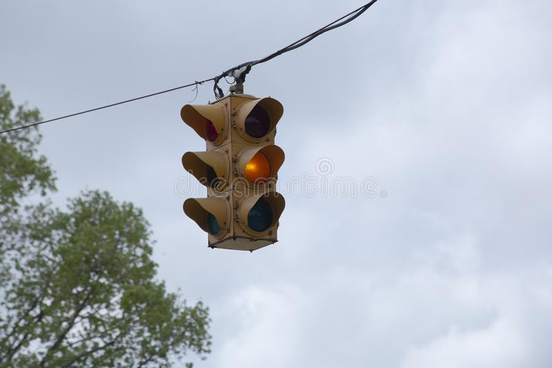 Yellow Traffic Light royalty free stock photography