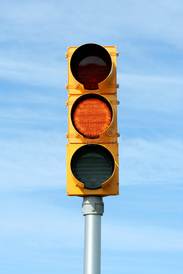 Download Yellow Traffic Signal Light Stock Image - Image: 7145577