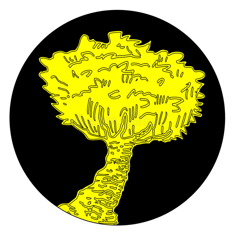 Download Yellow tree stock vector. Image of modern, abstract, original - 22557585