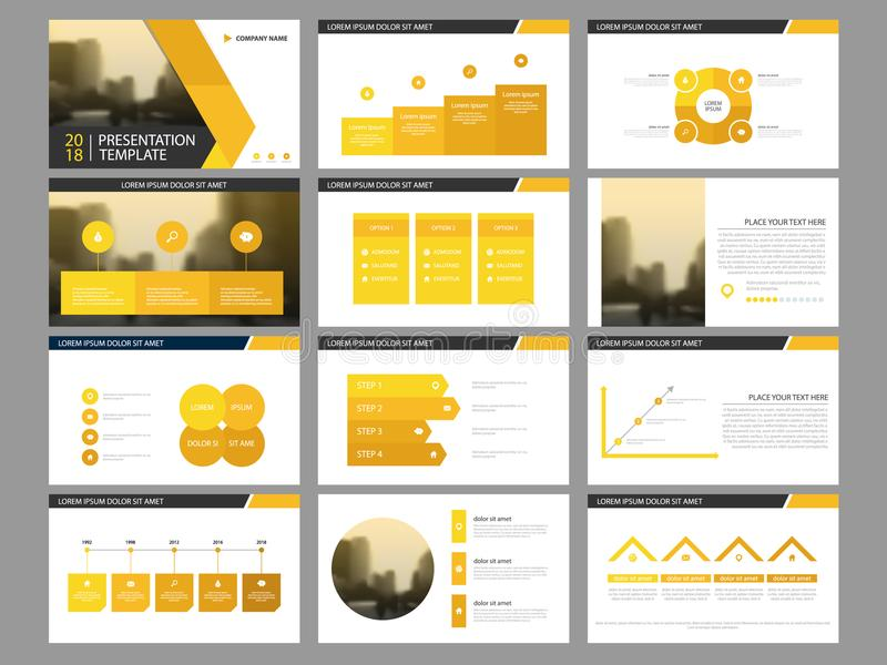 Yellow triangle Bundle infographic elements presentation template. business annual report, brochure, leaflet, advertising flyer, vector illustration