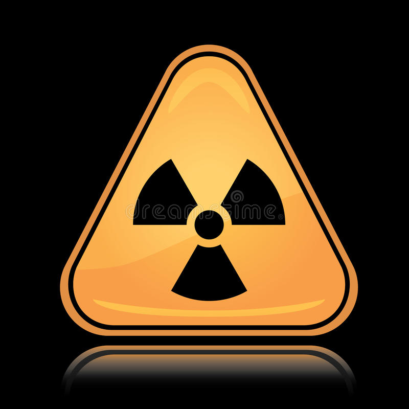 Yellow triangle icon radiation sign