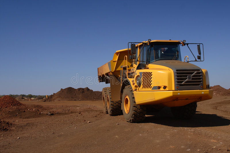 Yellow truck stock photography