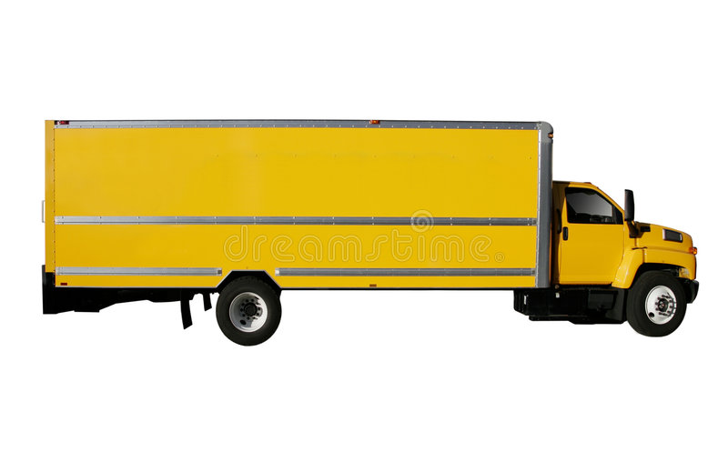 Download Yellow Truck stock image. Image of drive, express, courier - 2178215