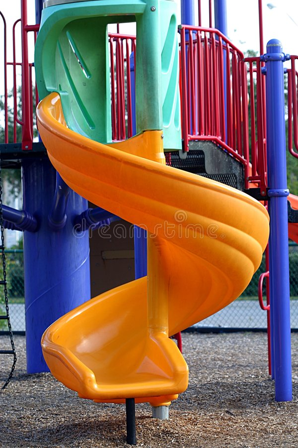 Download Yellow Twisty Slide stock image. Image of play, playful - 45507