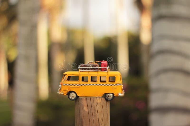 Yellow Van Die-cast Model stock photography