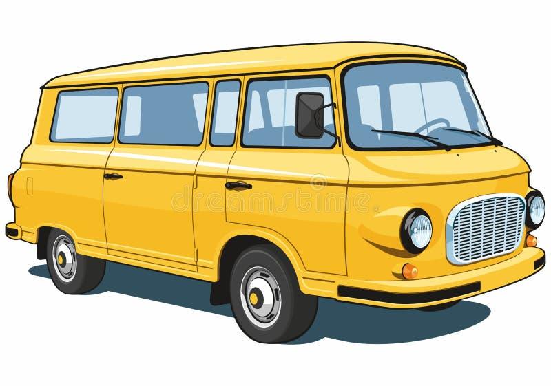 Yellow van royalty free stock image