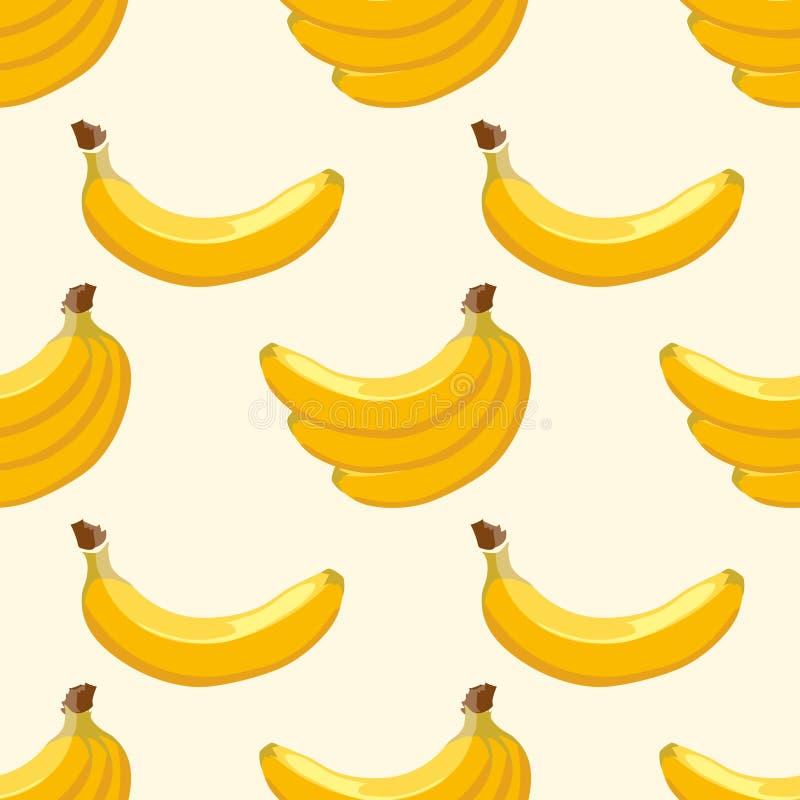 Yellow vector banana seamless background stock illustration