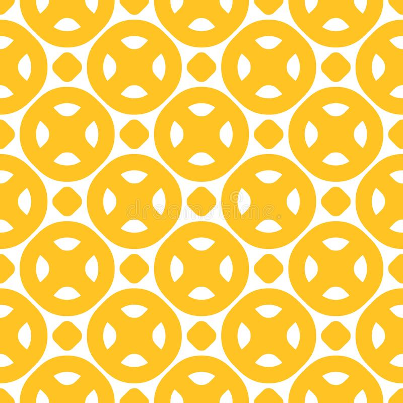 Bright positive colorful background with simple geometric shapes, circles, dots royalty free illustration